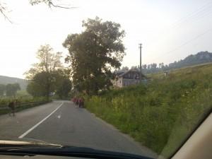 Romáci radostne tiahnu dedinou